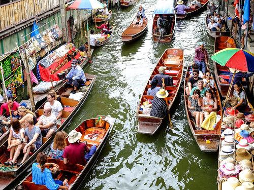 曼谷→丹嫩沙多水上市场包车一日游